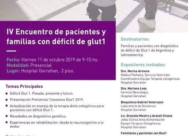 IV Encuentro de pacientes y familias con déficit de glut1