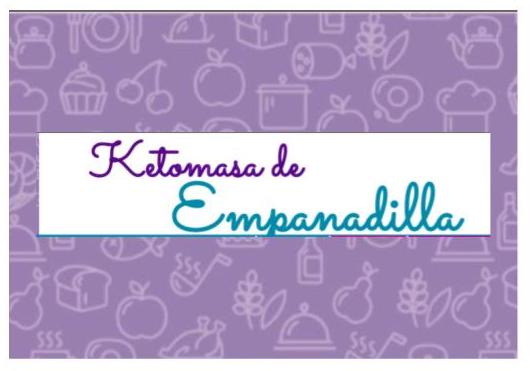 Ketomasa de Empanadilla para Dieta Cetogénica.