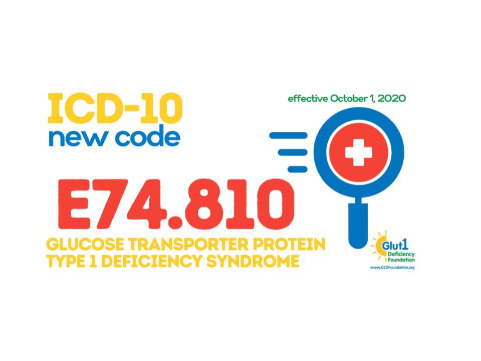Nuevo código ICD-10: E74.810 específico para el déficit de Glut1.