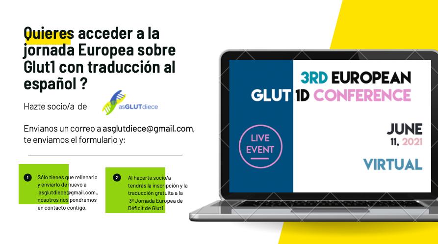Acceso y traducción a la 3ª Jornada Europea Glut1 DS – 2021